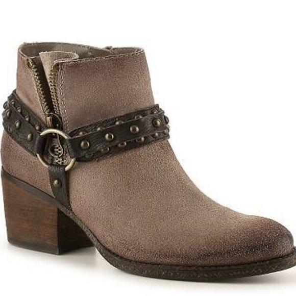 Crown Vintage Wendy Western Taupe Ankle Booties